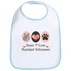 Peace Love Standard Schnauzer Bib