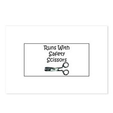 Runs With Safety Scissors Postcards (Package of 8)