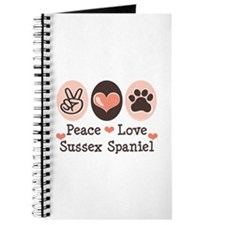 Peace Love Sussex Spaniel Journal