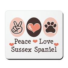 Peace Love Sussex Spaniel Mousepad