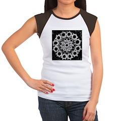 Antique Lace Design Women's Cap Sleeve T-Shirt