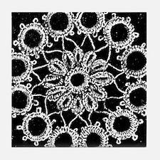 Antique Lace Design Tile Coaster