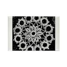 Antique Lace Design Rectangle Magnet