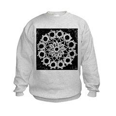 Antique Lace Design Sweatshirt