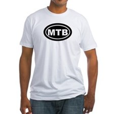 MTB Mountain Biking Oval Tees Shirt