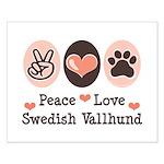 Peace Love Swedish Vallhund Small Poster