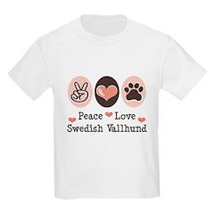 Peace Love Swedish Vallhund T-Shirt