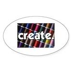 Sewing - Thread - Create Oval Sticker