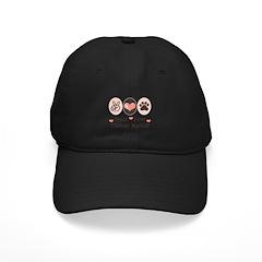 Peace Love Tibetan Mastiff Baseball Hat