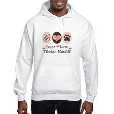 Peace Love Tibetan Mastiff Hoodie