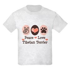 Peace Love Tibetan Terrier T-Shirt