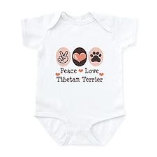Peace Love Tibetan Terrier Infant Bodysuit