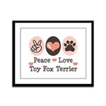 Peace Love Toy Fox Terrier Framed Panel Print