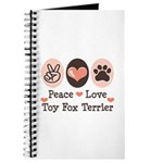 Peace Love Toy Fox Terrier Journal