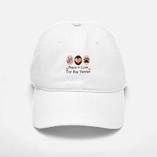 Peace Love Toy Fox Terrier Baseball Baseball Cap