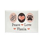 Peace Love Vizsla Rectangle Magnet (10 pack)
