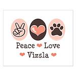 Peace Love Vizsla Small Poster