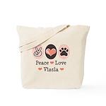 Peace Love Vizsla Tote Bag