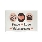 Peace Love Weimaraner Rectangle Magnet (100 pack)
