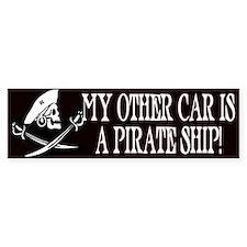 My Other Car Is A Pirate Ship Bumper Bumper Sticker