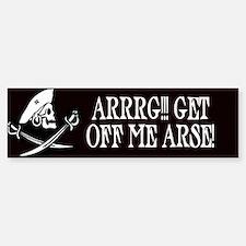 Arrrg! Get Off Me Arse Bumper Car Car Sticker