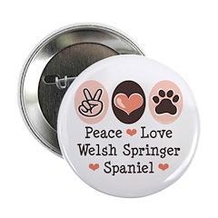 Peace Love Welsh Springer Spaniel 2.25