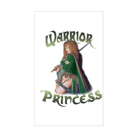 Warrior Woman Rectangle Sticker