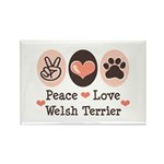 Peace Love Welsh Terrier Rectangle Magnet