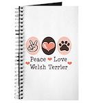 Peace Love Welsh Terrier Journal