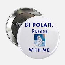 """Bipolar Bear 2.25"""" Button"""