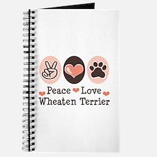 Peace Love Wheaten Terrier Journal