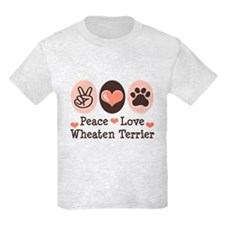 Peace Love Wheaten Terrier T-Shirt
