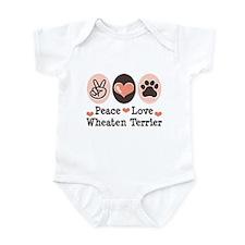 Peace Love Wheaten Terrier Infant Bodysuit