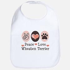 Peace Love Wheaten Terrier Bib