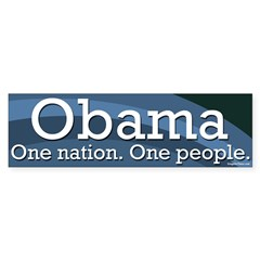 Obama One Nation One People Bumpersticker