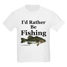 "Kids ""Rather Be Fishing"" Bass T-Shirt"