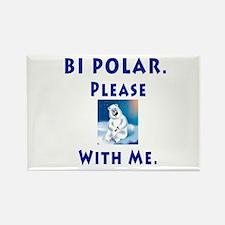 Bipolar Bear Rectangle Magnet
