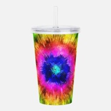 Starburst Tie Dye Watercolor Acrylic Double-wall T