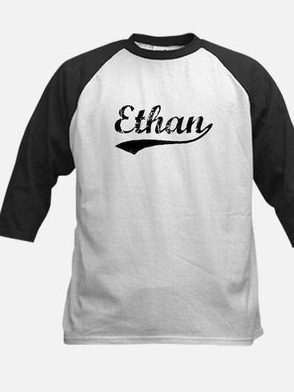 Vintage Ethan (Black) Kids Baseball Jersey