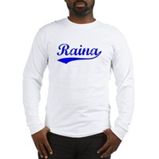 Vintage Raina (Blue) Long Sleeve T-Shirt