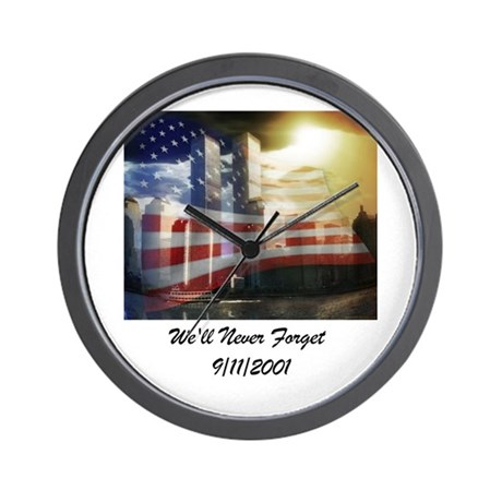 We'll Never Forget Wall Clock