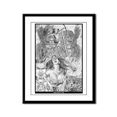 AZTLAN FIGHTING COCKS Framed Panel Print