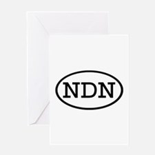 NDN Oval Greeting Card