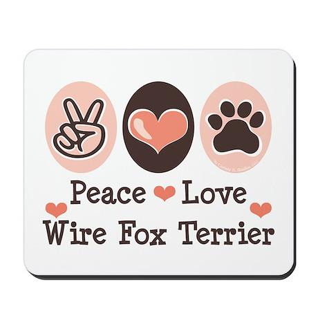 Peace Love Wire Fox Terrier Mousepad