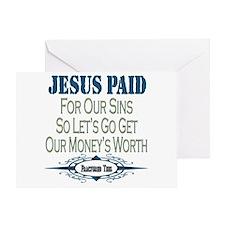Jesus Paid Greeting Card
