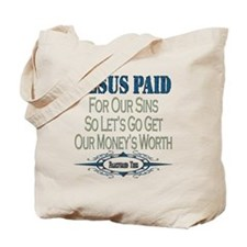 Jesus Paid Tote Bag