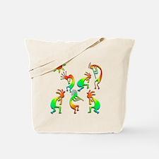 Kokopelli Sun Dance Tote Bag