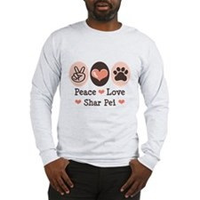 Peace Love Shar Pei Long Sleeve T-Shirt