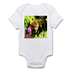 Blueberry Bee Pollinating Henbit Infant Bodysuit