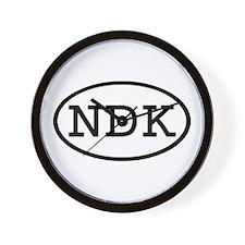 NDK Oval Wall Clock